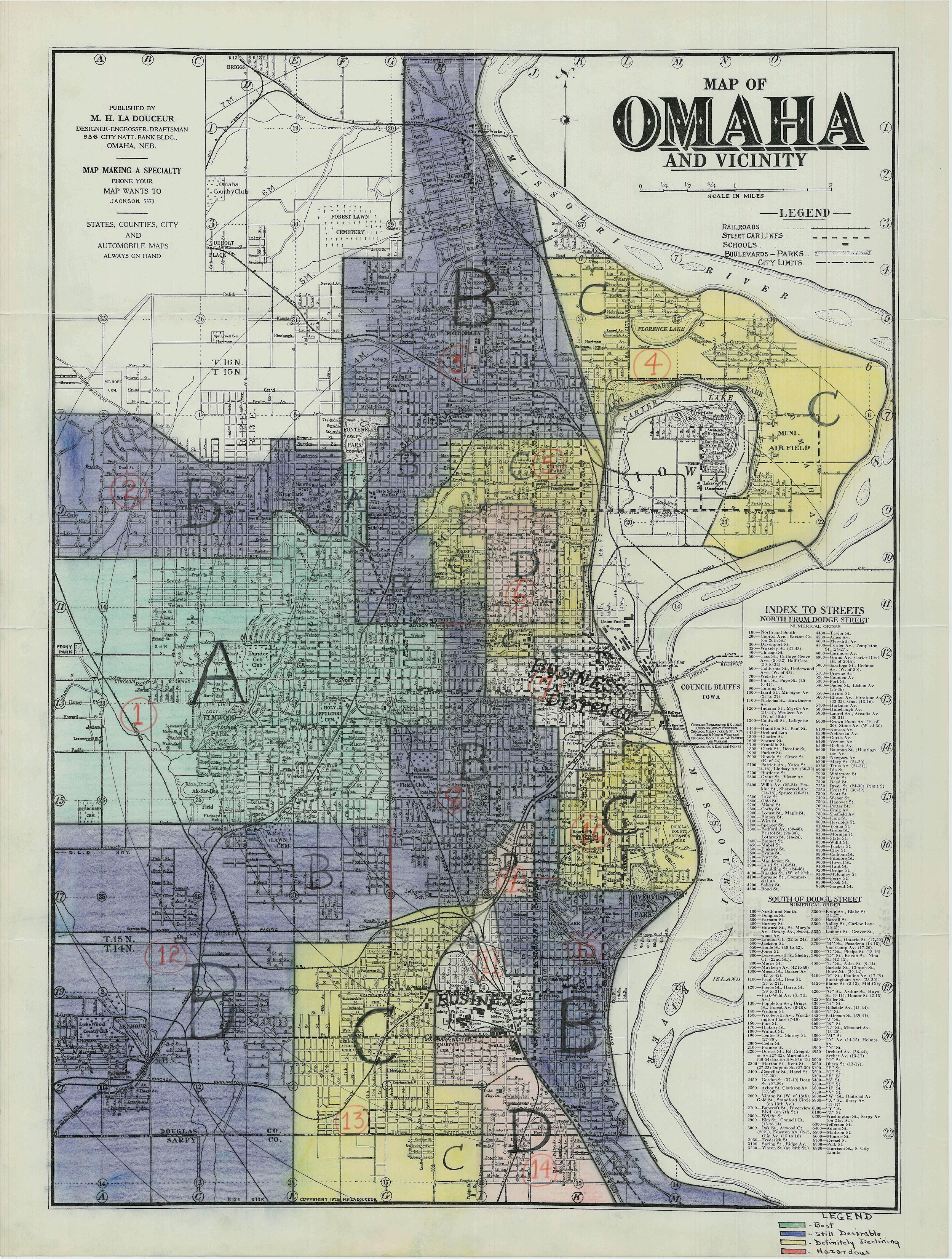 Omaha redlining map